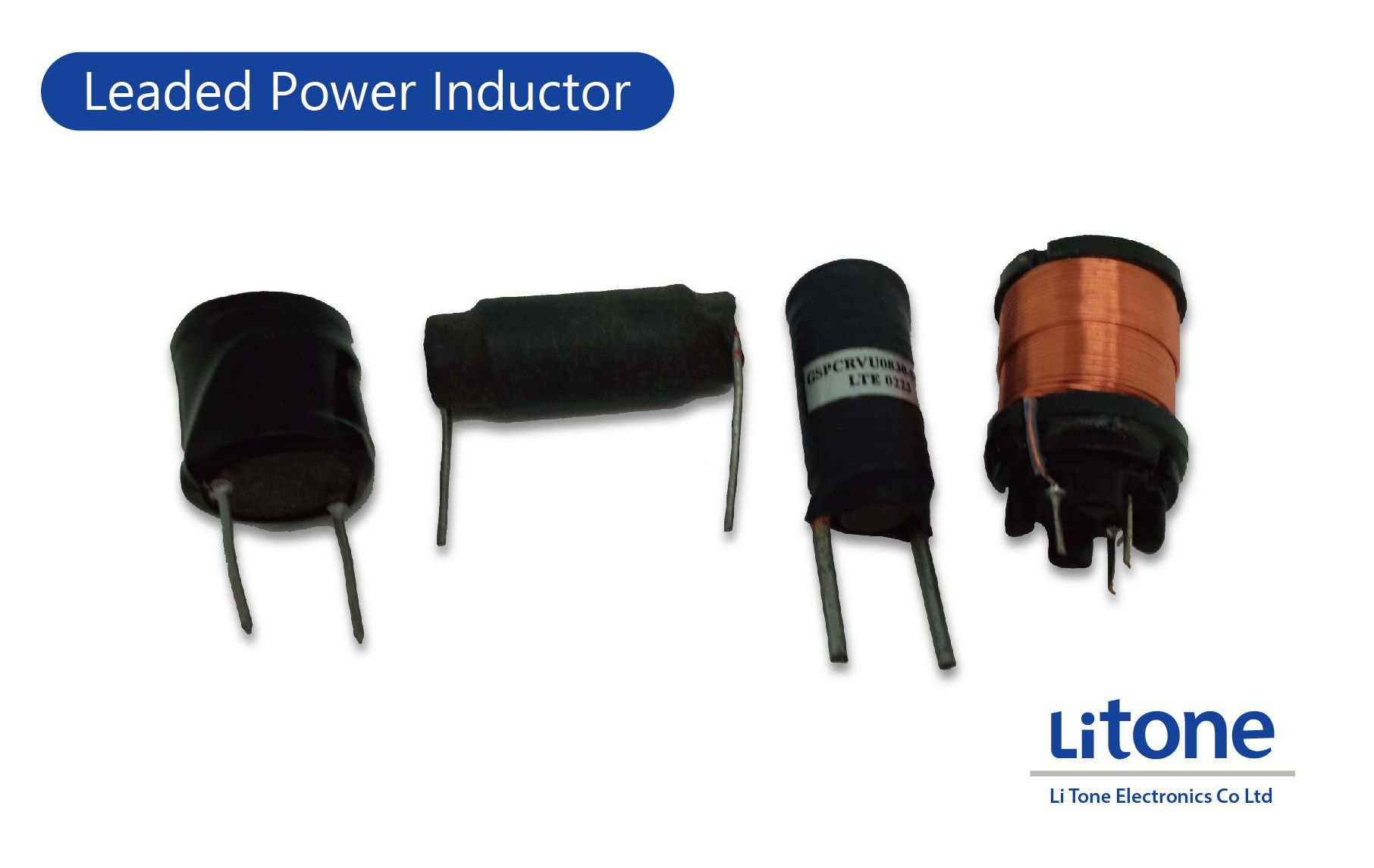 Leaded inductors with rod core or drum core (bobbin core) in Vertical or Horizontal.