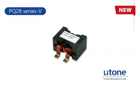 Induttore di potenza a filo piatto serie PQ28-V