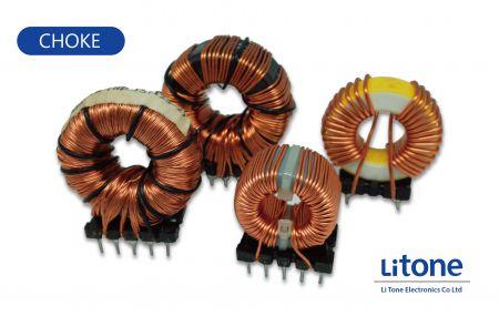 Ersticken - Gleichtakt-Ringkerndrosseln in verschiedenen Ausführungen mit 2 ~ 3 getrennten Wicklungen.