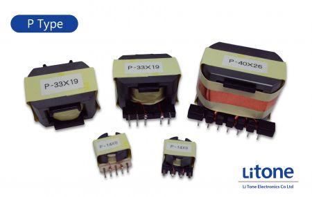 Transformador de potencia tipo P - Tipo Pot Core de transformador de potencia