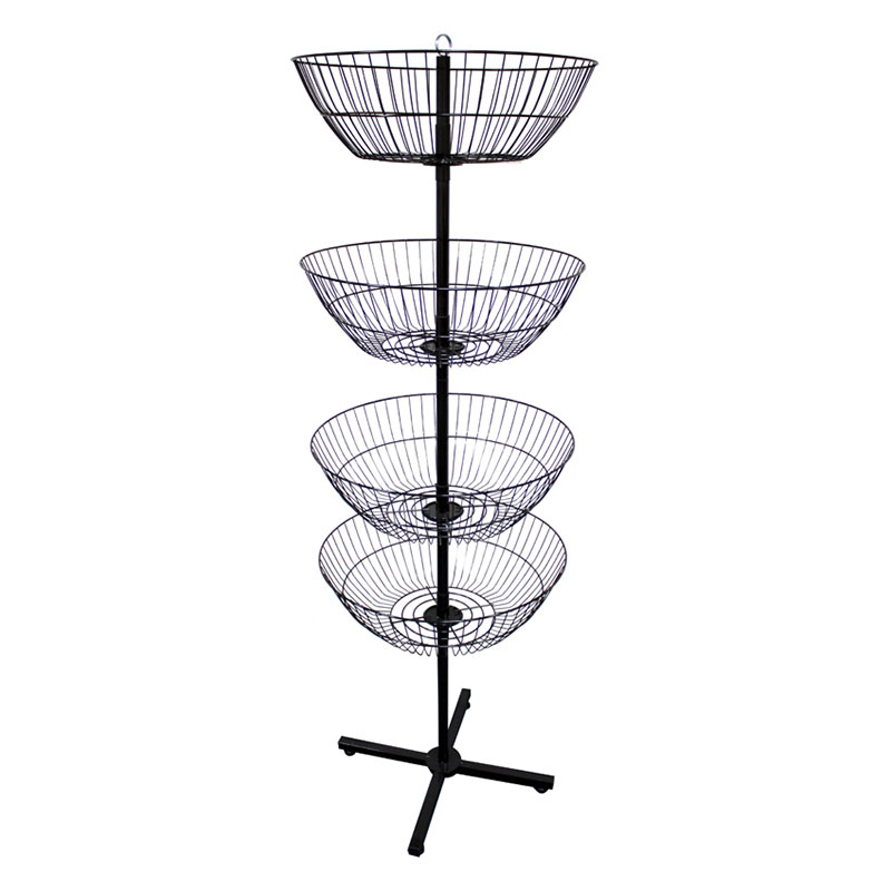 Black Metal Floor Spinner Rack