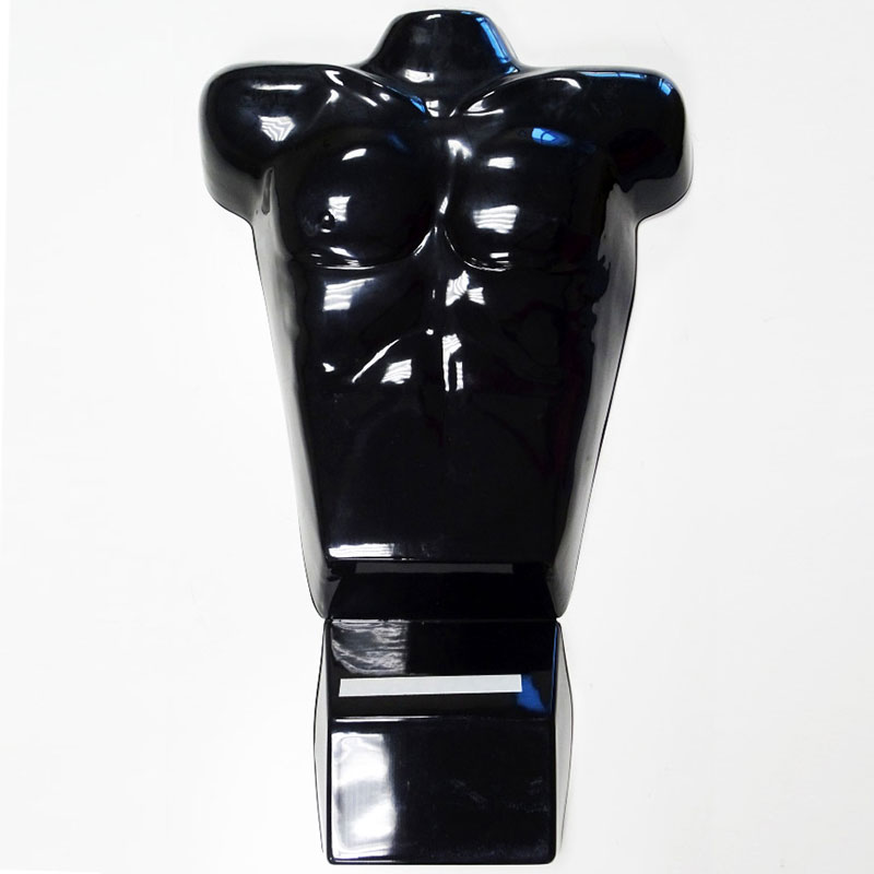 Male Display Mannequin Torso for Counter, Black