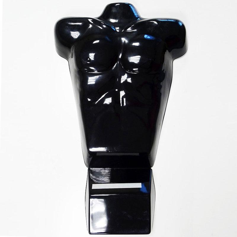 Männliche Anzeige Mannequin Torso für Counter, schwarz