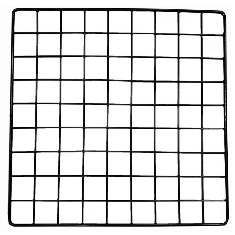 """Square Wire Grid, Black, 14"""" x 14"""""""