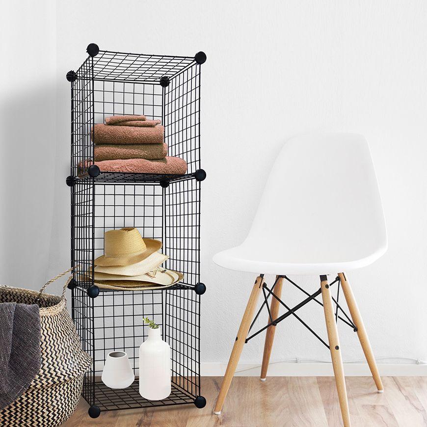 Wire Cube Storage Organizer, Set of 3