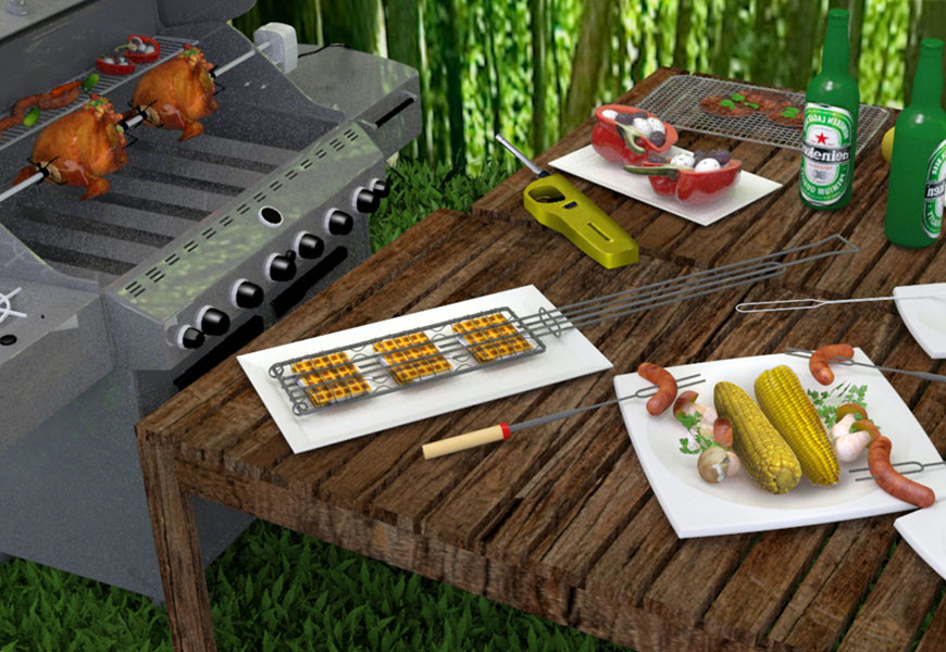 Rotisserie for Outdoor BBQ and Camping Gear for Outdoor Adventure