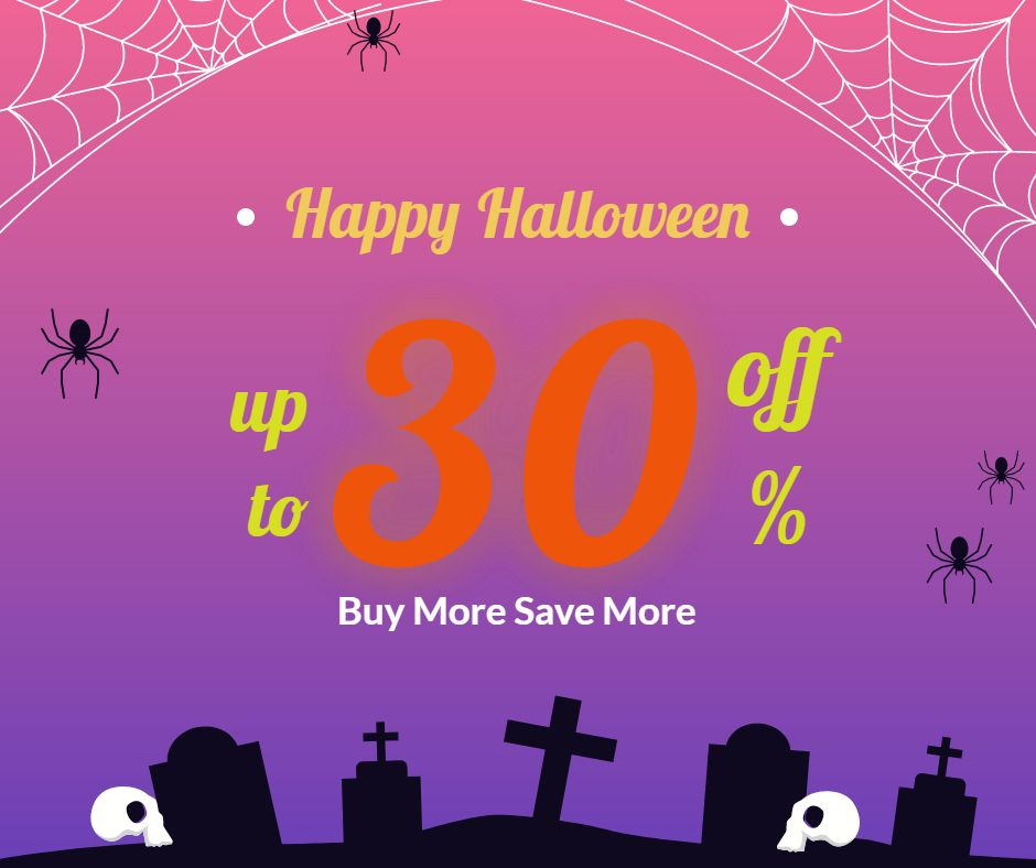Halloween Sale up to 30% Off