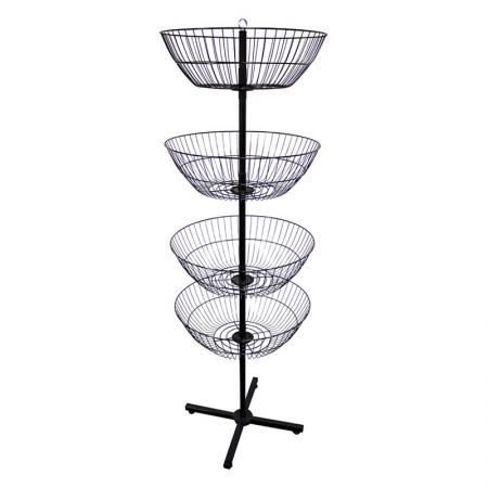 Floor Spinner Display Rack - Black Metal Floor Spinner Rack