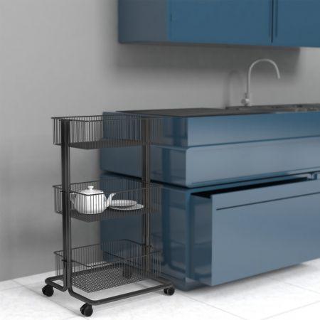 Utility Cart next to Kitchen Counter