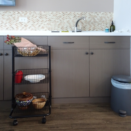 Kitchen 3 tier Storage Rolling Cart