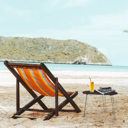 Take Small Wood Table to the Beach