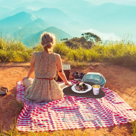 Go Picnic with Small Folding Table