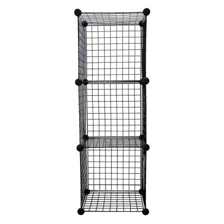 Wire Cube Storage Organizer, Set of 3 - Wire Cube Storage Organizer, Black