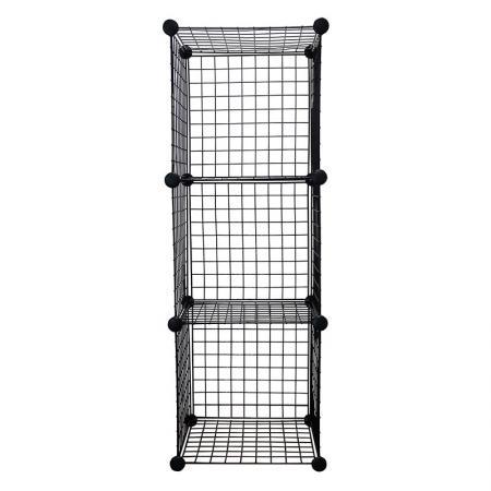 Wire Cube Storage Organizer, Set of 3 - Wire Cube Storage Organizer, Black