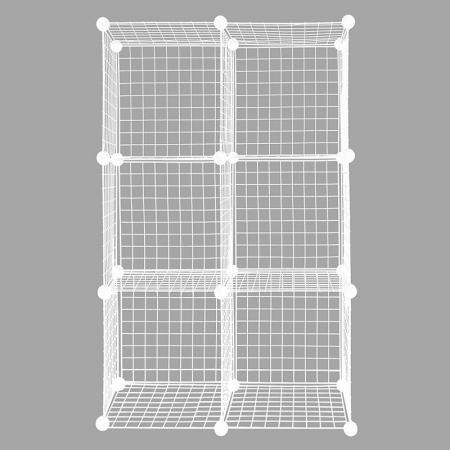 Metal Cube Storage Unit, Set of 6 - Metal Cube Storage Unit, Set Of 6, White