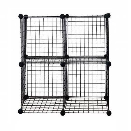 Metal Wire Storage Cube, Set of 4 - Metal Wire Storage Cube,Black