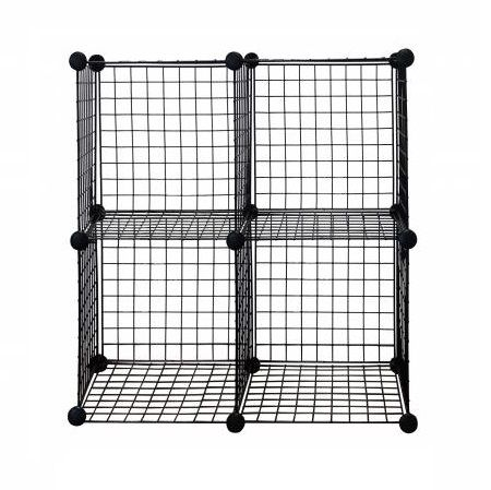 Metal Wire Storage Cube, Set of 4 - Metal Wire Storage Cube,Black