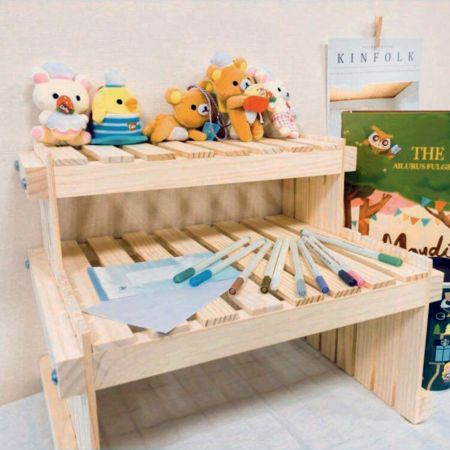 Wood Desktop Display Holder for Doll and Toy