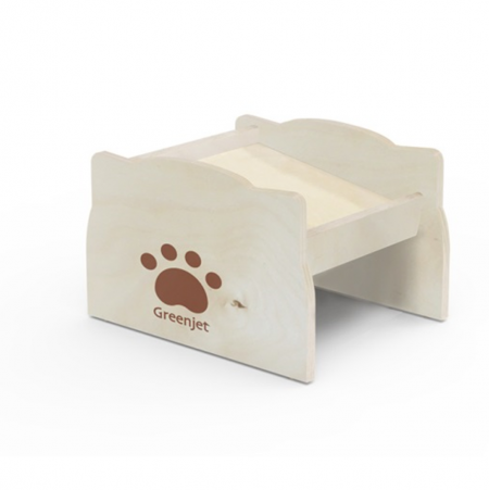 Elevated Dog Feed Bowl Stand - Elevated wood  feeder suitable for dog and cat