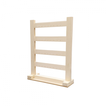 4 Tier Wood Earring Display Holder Stand - 4 Tier Wood Earring Display Holder Stand