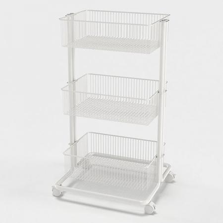 3 Tier Utility Cart, White