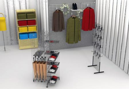 Grid Display for Retail Store