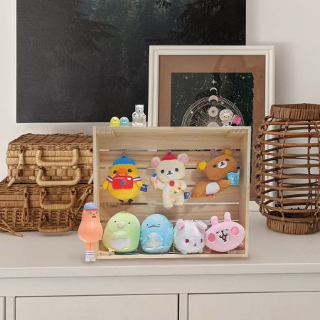 Doll Display Wood Crate Container