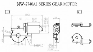 Window Motor - NW-2740A1 - NW-2740A1