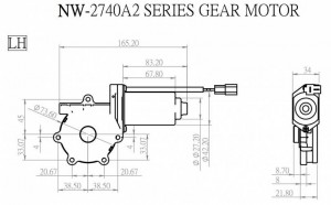 Window Motor - NW-2740A2 - NW-2740A2