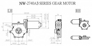 Window Motor - NW-2740A3 - NW-2740A3