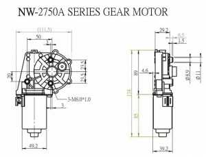 Window Motor - NW-2750A - NW-2750A
