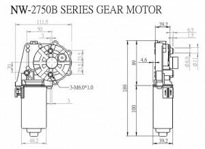 Window Motor - NW-2750B - NW-2750B