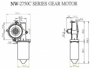 Window Motor - NW-2750C - NW-2750C