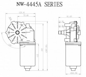 Window Motor - NW-4445A - NW-4445A