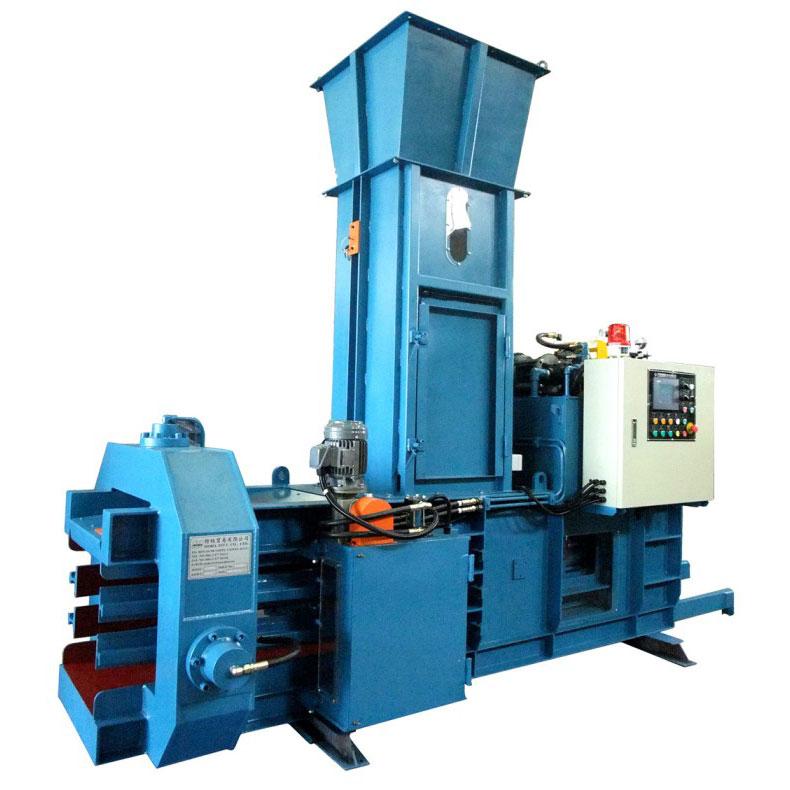 全自动废弃物压缩打包机 - TB-050510 (10HP) 专为纸板纸箱及文化用纸制造业设计制造之全自动废弃物压缩打包机