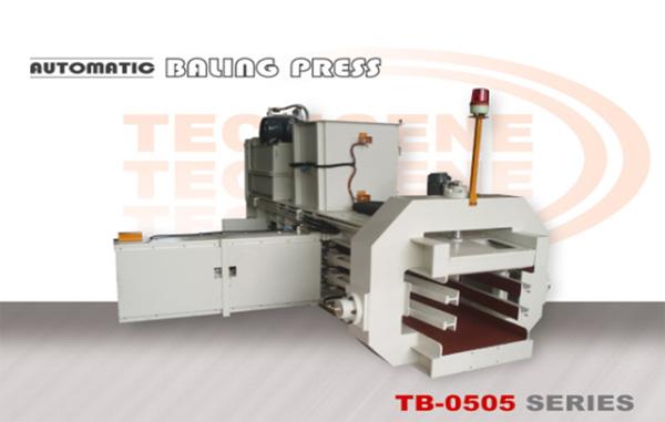 Prensa de enfardamento horizontal automática Série TB-0505