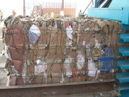Baling Press For corrugated cardboard - Cardboard