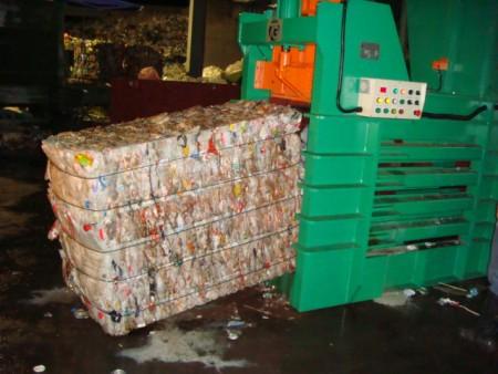 Baling Press For HDPE Bottles - HDPE Bottles