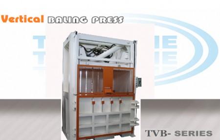 双缸立式废纸废膜压缩打包机