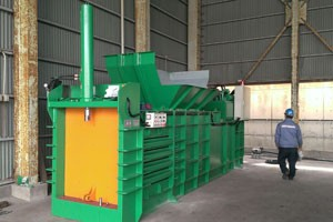 TCB close-end baler for various waste