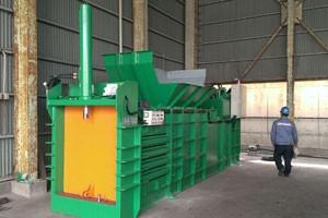 TCB close-end baler for various waste