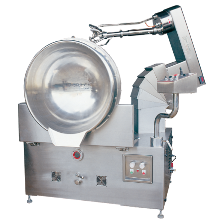 خلاط طهي يعمل بالغاز سعة 150 لترًا قابل للإمالة + ذراع رفع