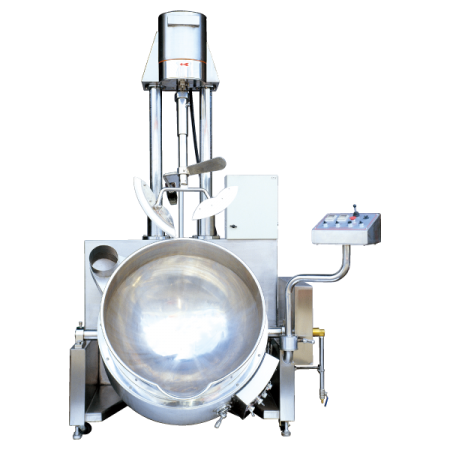 150〜250リットルの自動注入+自動上昇加熱ミキサー - SB-430自動加熱ミキサー