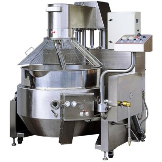 SB-430 Cooking Mixer, SUS#304 Body, Single Layer Bowl, Gas Heating(Auto Ignition) w/Safety Guard