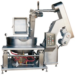 SB-460 Cooking Mixer, SUS#304 Body, Double Jacket Steam Bowl, Steam Heating, w/Automatic Material Handling [A]