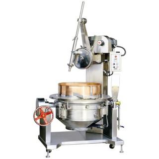 Kom roterende kookmixer SC-400 wordt geleverd met roestvrijstalen behuizing. [B]