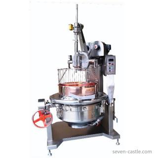 Kom roterende kookmixer SC-400 wordt geleverd met roestvrijstalen behuizing en beschermkap. [E]