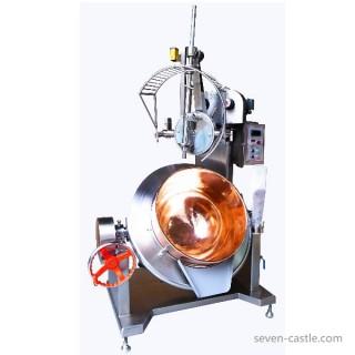 Kom roterende kookmixer SC-400 wordt geleverd met roestvrijstalen behuizing en beschermkap. [F]
