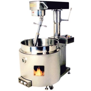 SC-410 Cooking Mixer, SUS#304 Body, SUS#304 Single Layer Bowl, Gas Heating [A]