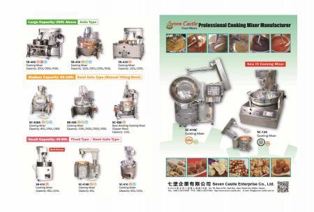 """""""NOVO"""" Folheto de Misturadores de Culinária para Alimentos ENG"""